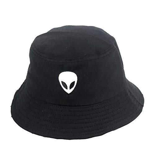 Drawihi. Sombrero De Pescador Bordado Extraterrestre Sombrero De Hip-Hop 56-58cm Unisex Negro