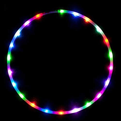 Light-Up LED Hoop,Exercise Hoop,36 inch Glow-in-The-Dark Fitness and Dance Hoop for Adults and Kids,Led Light Hoop,Led Dance Hoop,Removable Rolling Ring for Fitness Sports Home Office Exercise Tools