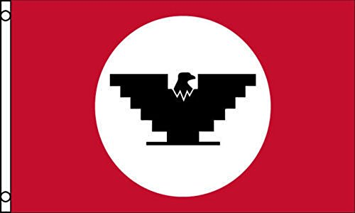 AES United Farm Workers Flag 3x5 ft UFW Union Black Eagle Logo Protest Labor Fields Banner House Banner Double Stitched Fade Resistant Premium Quality