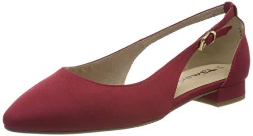 Tamaris Damen 1-1-22112-24 Geschlossene Ballerinas, Rot (Lipstick 515), 41 EU
