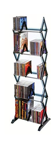 Cartener 130 CD/90 DVD/BluRay/Games 5-Tier Media Rack