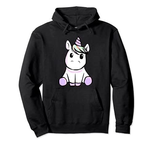 Unicornio - dulce unicornio se sienta alrededor Sudadera con Capucha