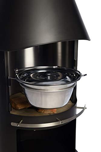 Firestar Gulasch-/Glühweintopf für DN 700/800 Gartenkamin, Edelstahl glänzend