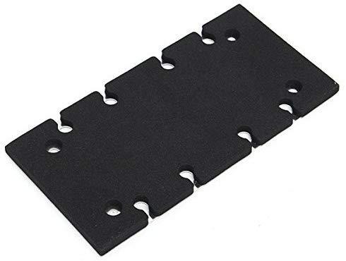 Pieza de repuesto de lijadora, almohadilla de respaldo de placa base para Makita BO3700 BO3710 BO3711 (negro)