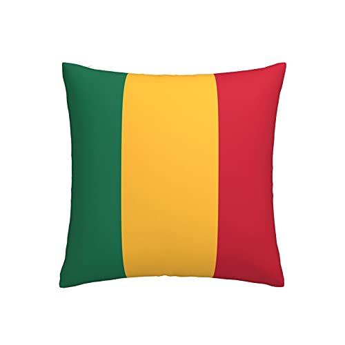 Kissenbezug, Motiv: Flagge von Mali, quadratisch, dekorativer Kissenbezug für Sofa, Couch, Zuhause, Schlafzimmer, für drinnen & draußen, 45,7 x 45,7 cm