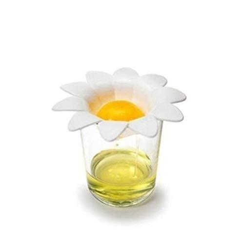 LYGACX Separatore di Uova, youg di plastica yoolk yoolk divisori da Cucina Gadget da Cucina Strumenti di Cottura Estrattore Uovo, Carino Fiore Design