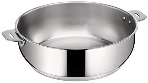 LAGOSTINA SALVASPAZIO 012135031726 Sauteuse 2 anses 26 cm Inox Tous feux dont induction (anses et poignés vendues séparemment)