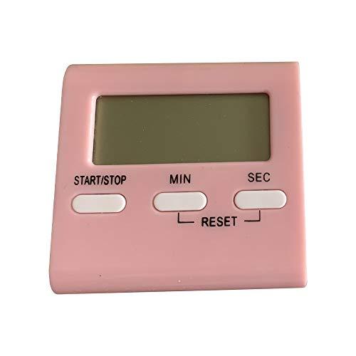 Eieruhr Stoppuhr Mit Lauter Alarm und Großes Display,Zeitschaltuhr Digital Küche Timer Magnetische Kochen Countdown-Alarm Schlaf Stoppuhr Uhr Home Multifunktionale Werkzeuge Küchentimer Digital (Rosa)