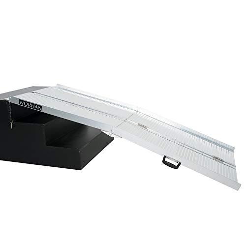 1,83 m, aluminio, Rampa plegable para maletas, silla de ruedas y Scooter, R6