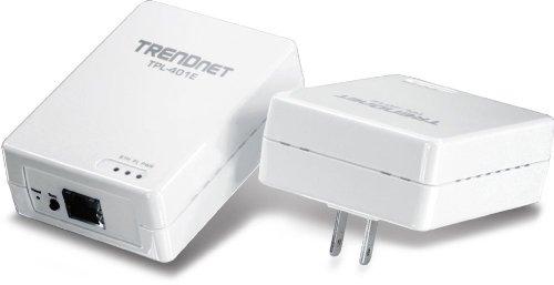 TRENDnet 500 Mbps Powerline Ethernet AV Adapter Kit TPL-401E2K (White)