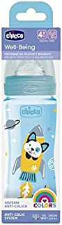 Chicco Well-Being Plastic Bottle, 330 ml- Boy