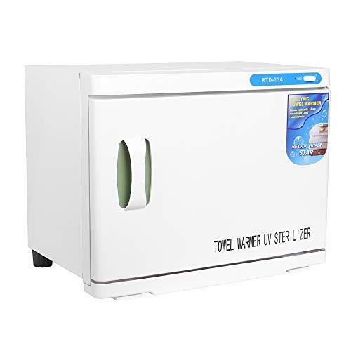 Sinobay Handtuchwärmer Kosmetik Kompressen Towel Handtuch Wärmer Hot Cabinet UV-Licht Sterilisator Friseursalon Kosmetikstudio, Grosses Volumen von 23 Liter für 30 bis 40 Handtücher Geeignet