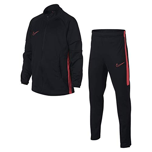 Nike B Nk Dry Acdmy TRK K2, Tuta Bambino, Black/Ember Glow/Ember Glow, S