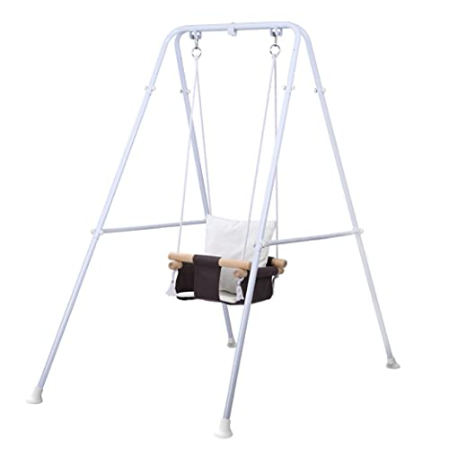 Toddler Swing, Baby Swing with Stand,Swing Set for Infant,Outdoor Indoor Swing Set with Canvas Cushion Seat