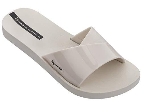 Ipanema Badeschuhe Badelatschen Damen Slipper Slide Freizeitsandalen Wellness-Badeschuhe Bade-Pantolette Badeschlappen Kunststoff-Sandale breiter Riemen Fresh FEM 26366 (Beige 20354, 38)