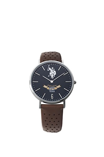 US Polo Association Reloj Analógico para Hombre de Cuarzo con Correa en Cuero USP3004BL