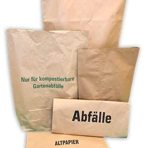 Rodenbacher Papieragentur GmbH 50 St. Papier-Bioabfallsäcke 120l Format 70x95x22 cm Motiv: Kompostabfälle, 2lagig, mit extra Bodendeckblatt