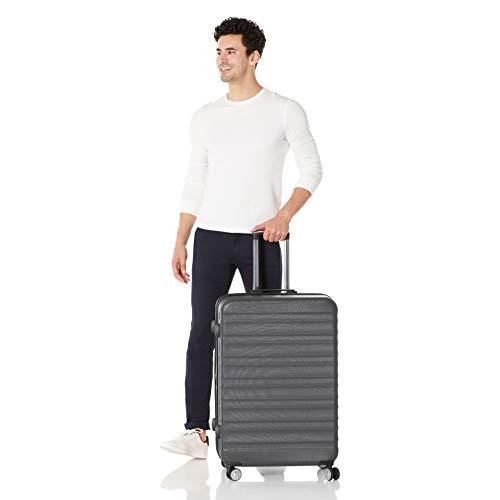 Amazon Basics Premium Hardside Spinner Suitcase Luggage with Wheels - 20-Inch, 28-Inch, Grey