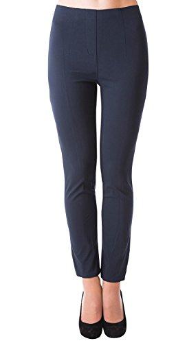 Danaest Damen Stretch Hose gerades Bein (491), Grösse:XL, Farbe:Dunkelblau