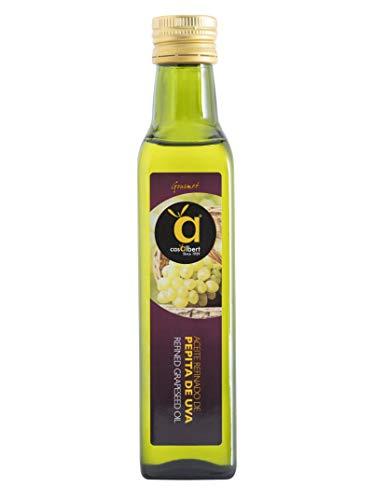 Casalbert Aceite de Pepita de Uva, Ideal para Su Consumo en Frío, Sabor Suave, Envase de Vidrio de 250 ml