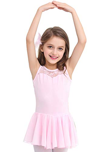 Manana ma1 Silkily Kids' Leotard, Ballet Wear, Junior, Lace, Skirt, With Snap Buttons