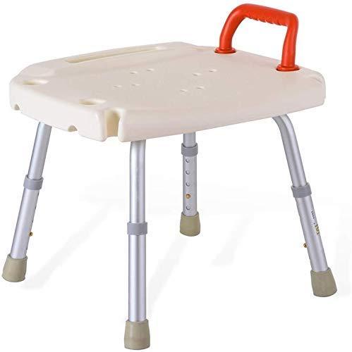 ZXY-NAN Bathroom Wheelchairs Stools stool White Waterproof Safety Comfort Backrest Bath Chair Elderly/Handicapped/Pregnant Adjustable Height Aluminum Alloy Bath Stool Antislip Chair Handrail Max. 136k