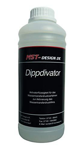 MST-Design Aktivator/Dippdivator für Wassertransferdruck Folie I 1 Liter I Premium Qualität