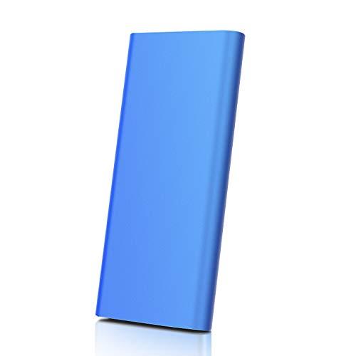 Hard Disk 1tb Esterno Type C USB3.1 Hard Disk Esterno per PC, Mac, Desktop, Laptop, MacBook, Chromebook (1tb, blu)