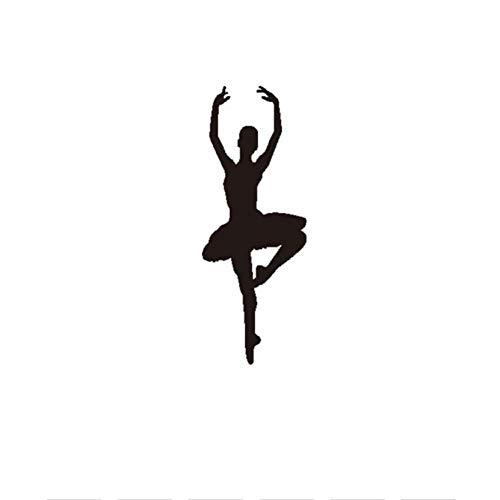 Meisje Ballet Rotating Dance Action Muur Art muurschildering Vinyl Muursticker voor Meisjes Slaapkamer Modern Home Decor Verwijderbaar Waterdicht Behang