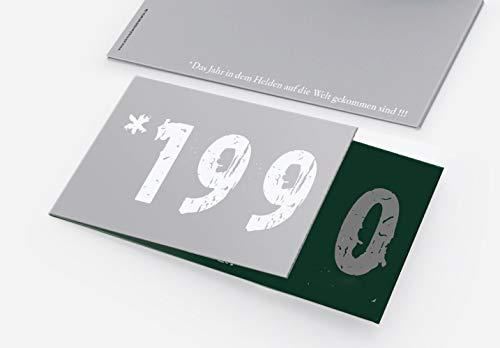 Runder Geburtstag Einladungskarten 30 Jahre Geburtstagseinladungen - Zeitsprung Einladung für runden Geburtstag 30er Feier Dunkelgrün - Silber (50)