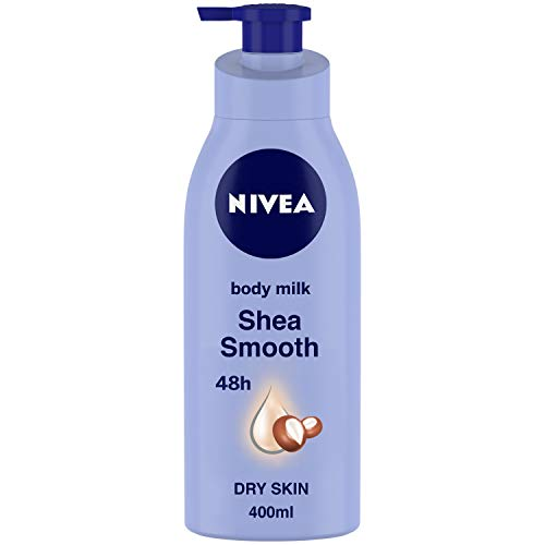 NIVEA Body Lotion for Dry Skin, Shea Smooth, with Shea Butter, For Men & Women, 400 ml