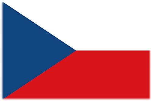 Flagge/Fahne Tattoo TSCHECHIEN / TSCHECHISCHE REPUBLIK - 2 Paar (4 Stück) - nicht permanent - für Gesicht, Wange, Schulter, Arm, Hand