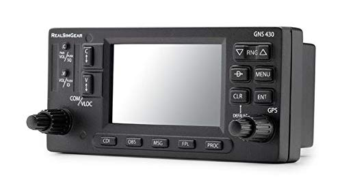 Real Sim Gear GNS430 Bezel | Realistic GPS Hardware for Flight Simulators | Student Pilot Navigation System | 3.5
