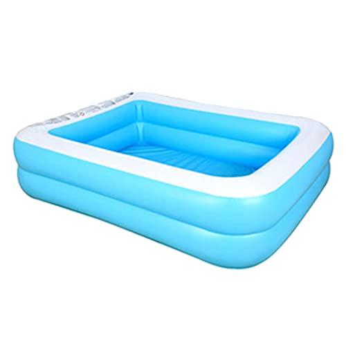 Taloit Piscina inflable, piscina de tamaño completo para niños, piscina grande rectangular para el salón familiar, para bebés, niños, adultos, sobre el suelo, jardín, patio trasero