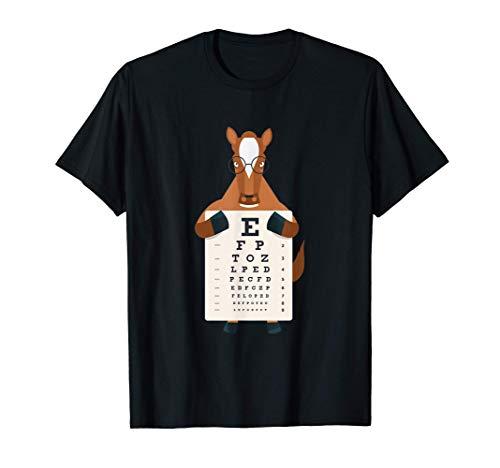 Pony Caballo Prueba ocular Óptica Carta de los ojos Niños Camiseta