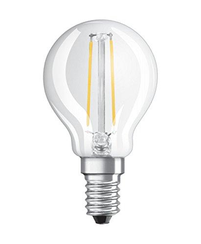 Osram Lot de 2 Ampoules LED à Filament Dépolies   Culot E14   Forme Sphérique   Blanc Chaud 2700K   2,5W (équivalent 25W)