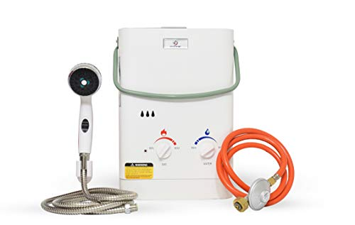 Eccotemp CE-L5 6,0 LPM Tragbarer, tankloser Wassererhitzer für den Außenbereich, 50 mbar