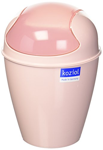 Koziol DEL XS Schwingdeckeleimer, Thermoplast, Powder Pink