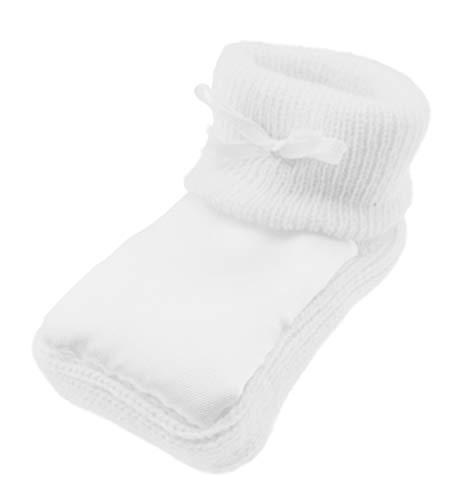 Chaussons en satin pour bébé avec petit nœud Blanc