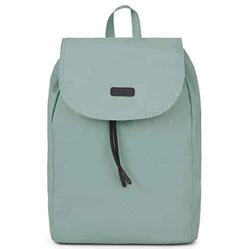 Expatrié Mochila Mujer Verde - Bolsa Clara de Elegante Nylon - Bonito Bolso para Ocio Ligero y Pequeño - Moderno Backpack para Chicas, Cierre Magnético e Impermeable