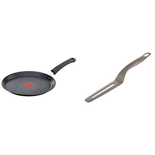 Tefal E4401185 Talent Pro Crêpière 28 cm, Aluminium, Noir & K0060412 Fresh Kitchen Cassonade Spatule à Crêpes