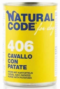 Natural Code Per Cane da 400 G, Cavallo con Patate