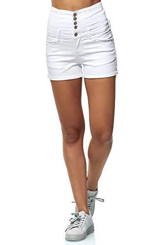 Elara Pantaloni Donna Corti Vita Alta Push Up Chunkyrayan Bianco MS2021 White 38 (M)