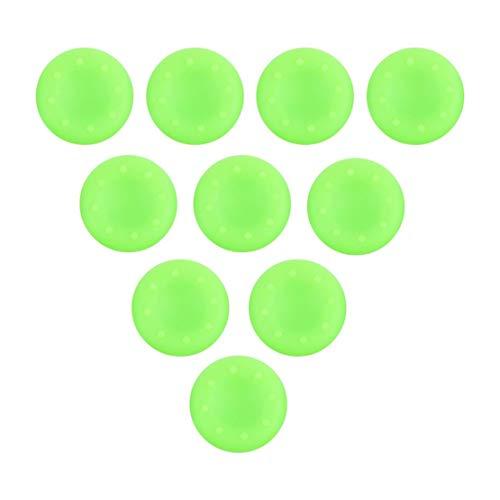 Sanzhileg 10 Pezzi Silicone Antipolvere a Prova di sporcizia Controller analogico Thumb Stick Grip thumbstick thumbstick Grip Copri Copertura per ps4 Xbox One - Verde