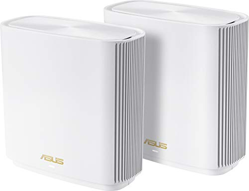 Asus Ai Mesh AX-WLAN System ZenWiFi XT8 (2in1 Mesh Zugangspunkte-Set, AX6600 WiFi 6 Mesh-Backbone und Client-Verbindung, 3x Gigabit LAN, 2.5G WAN, App Steuerung, Roaming, AiProtection) weiß