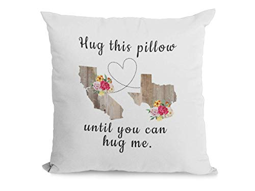 Pillow for Long Distance Relationship, Hug This Pillow Until You Can Hug Me, Throw Pillow Case