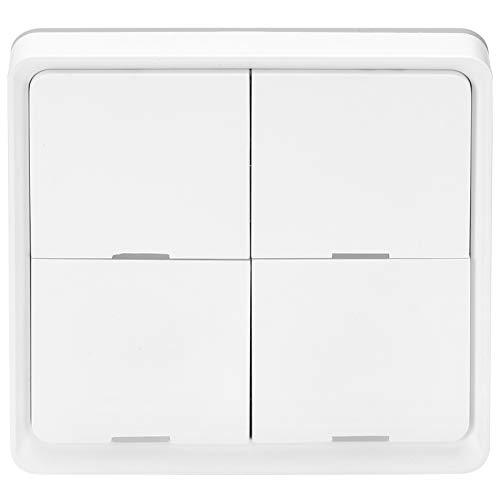 Interruptor de Escena inalámbrico Interruptor de Pared de Panel Adhesivo Inteligente de 4 vías Control de aplicación de teléfono móvil Conexión Zigbee para dormitorios, cocinas, baños