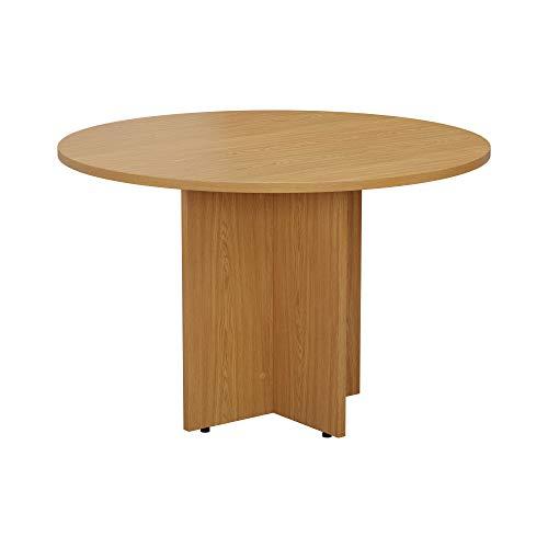 Simple Round Meeting Table 1100mm diameter - Oak