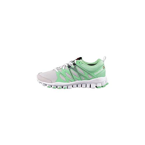 Reebok Damen Realflex Train 4.0 Laufschuhe, Grau (Steel/Seafoam Green/Ash Grey/White), 38.5 EU