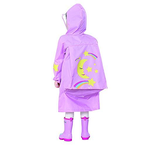 Kinder Cartoon Outdoor Travel Kinder Einteiliger Regenmantel Big Hat Seite Atmungsaktiv Dreidimensionale Form High Tie Reißverschluss,D,M